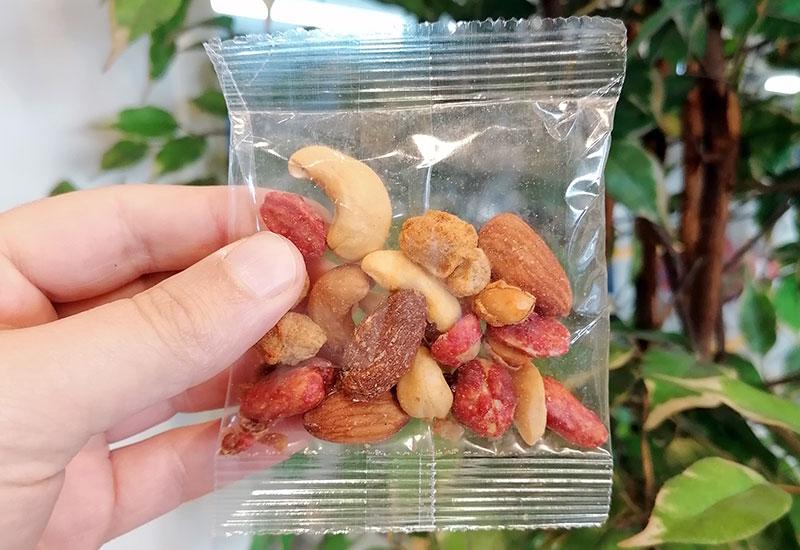 Kleine verpakking noten
