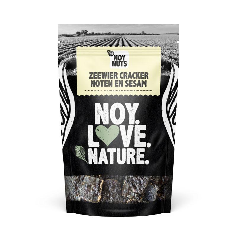 zeewier cracker noten en sesam