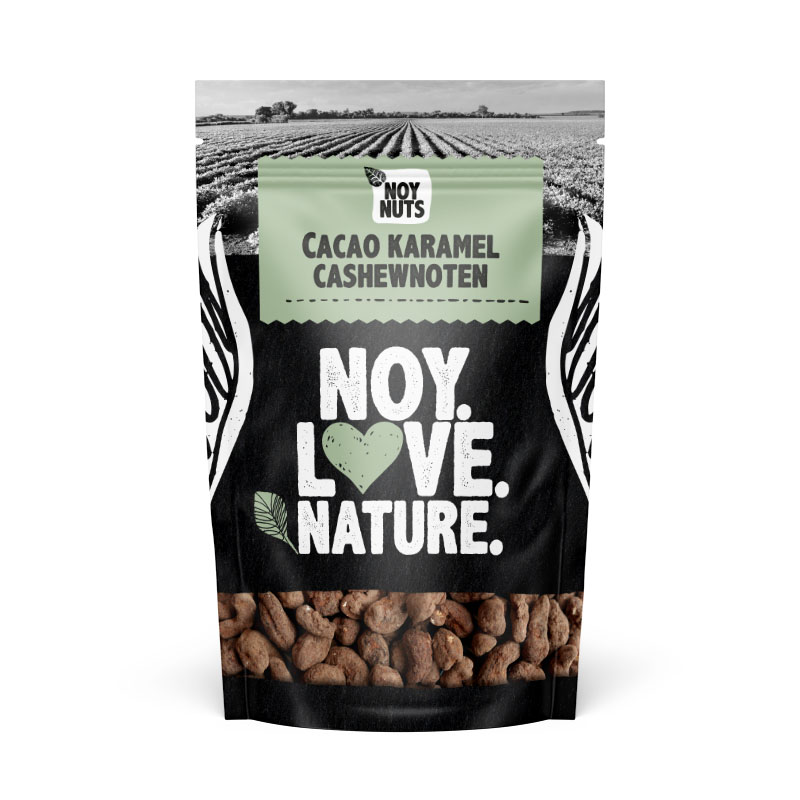 Cacao karamel cashewnoten